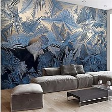 YNYEZBH 3D Photo Mural Abstract Leaf Stitching
