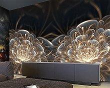 YNYEZBH 3D Photo Mural Bright Flowers Geometric