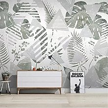 YNYEZBH 3D Photo Mural Leaf Geometric Lines Living