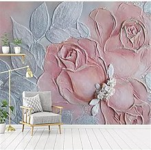 YNYEZBH 3D Photo Mural Relief Rose Flower Living