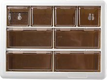 YO-HAPPY 8 Grid Drawer Cabinet Jewelry Storage Box