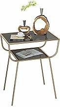 YO-TOKU Modern End Table Rustic Coffee Table