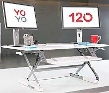 Yo-Yo DESK® 120 (WHITE) Height Adjustable