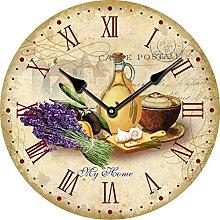 YOAI Wall Clock Kitchen Clock Vintage Shabby Chic