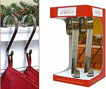 YöL 2 Christmas Stocking Holders Mantel Hooks