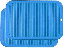 YOFASEN Blue Silicone Trivet Mats - Trivet Mat for