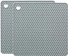 YOFASEN Premium Square Silicone Trivet (Set of 2)