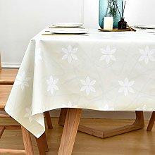 Yofori PVC Table Cloth Wipeable Plastic Tablecloth