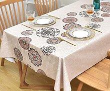 Yofori Table Cloth Plastic Tablecloth Wipeable PVC