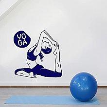 Yoga Girl Wall Decals Poses Beauty Health Vinyl