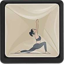 Yoga Hands Stretched Out Square Cabinet Knobs