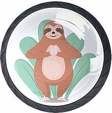 Yoga Sloth Crystal Drawer Handles Furniture Glass