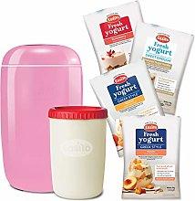 Yogurt Maker Pink Starter Bundle Includes 4