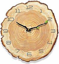 Yoillione Rustic Wooden Wall Clock Vintage Clock