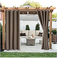 Yokbeer Outdoor Curtain With Eyelets Above And