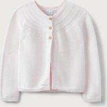 Yoke-Detail Cardigan (2-6yrs), Pink, 2-3yrs