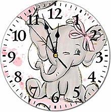 YOKJLDH Baby Dumbo Ballon PVC Wall Clock