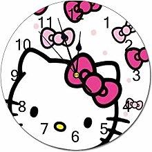 YOKJLDH Cute Hello Kitty PVC Wall Clock Decorative