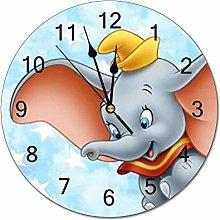 YOKJLDH Dumbo PVC Wall Clock Decorative Digital