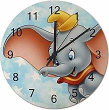 YOKJLDH Dumbo Wooden Wall Clock Decorative Home