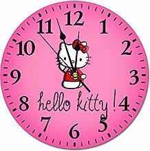 YOKJLDH Hello Kitty PVC Wall Clock Decorative Home