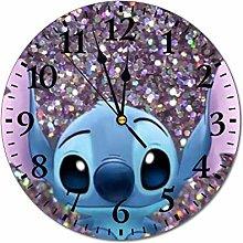 YOKJLDH Lilo And Stitch PVC Wall Clock Decorative