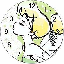 YOKJLDH Tinkerbell And Fairy PVC Wall Clock