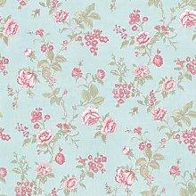 YOL - Floral Wallpaper in Beige Or Blue Pink