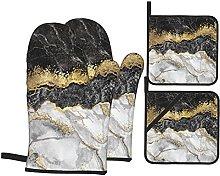 YOLIKA Abstract Creative Texture Marble Gold,4Pcs