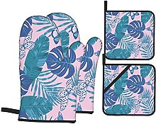 YOLIKA Tropical Leaf Butterflies In Pink And