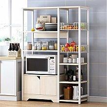YoLiy Multifunctional Storage Rack Microwave Cart