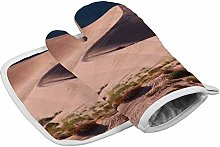 Yolocal Pink sand dunes Kitchen Oven Mitts and Pot