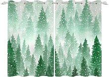 YongFoto 117x138cm Forest Windows Curtain,