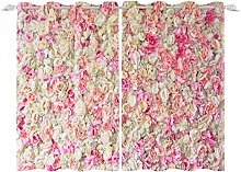 YongFoto 117x229cm Flowers Windows Curtain, Vivid
