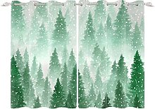 YongFoto 117x229cm Forest Windows Curtain,