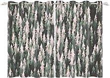 YongFoto 168x229cm Forest Windows Curtain, Cartoon