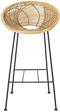 Yonne Bar chair - / Rattan - H 72 cm by