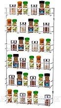 YonTree 6 Tiers Steel Spice Rack Herb Jar Holder