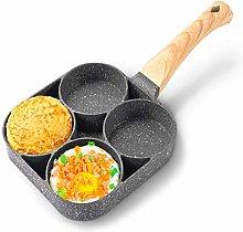 YOOXI Multi Egg Frying Pan,4 Hole Burger Eggs