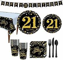 YOPOTIKA 21st Birthday Party Supplies Tableware