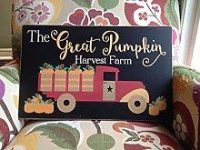 Yor242len Wood Sign The Great Pumpkin Harvest Farm