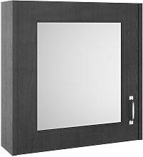 York 1-Door Mirrored Bathroom Cabinet 600mm H x