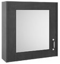 York Royal Grey 600mm Single Door Mirror Cabinet -
