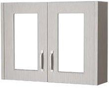 York Stone Grey 800mm 50/50 Split 2 Door Mirrored