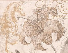 York Wallcoverings Wavy And Leopard Print Flowers
