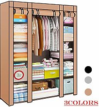 YORKING 145x43x175cm Canvas Wardrobe Clothes