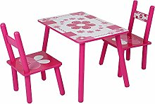 YORKING 2 Chairs 1 Table Childrens Pink Kids