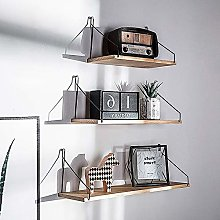 YORKING 3 Pcs Floating Shelves Wooden Wall Mounted