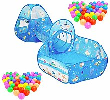 YORKING 3pcs Childrens Kids Baby Play Tent And