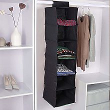 YORKING 6 Section Shelves Hanging Wardrobe Shoe